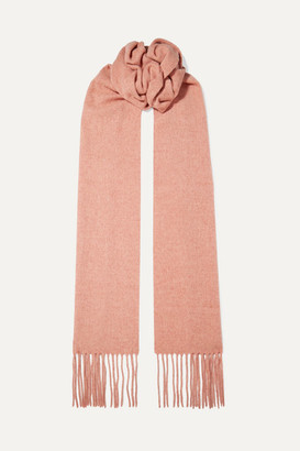 Acne Studios Canada Skinny Fringed Mélange Wool Scarf - Antique rose