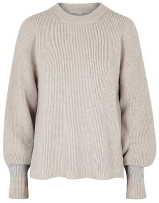 Stella McCartney Stone Open-shoulder Wool Jumper