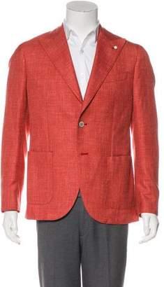 Luigi Bianchi Mantova Wool & Silk Peak-Lapel Blazer