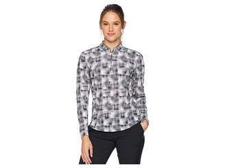 Jamie Sadock Hologram Print Sunsense(r) 1/4 Zip Long Sleeve Top with 50 UVP