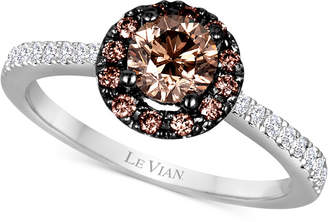 LeVian Le Vian Chocolatier Diamond Cluster Ring (9/10 ct. t.w.) in 14k White Gold