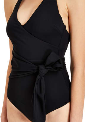 Onia Elena Bow-Front V-Neck One-Piece Swimsuit