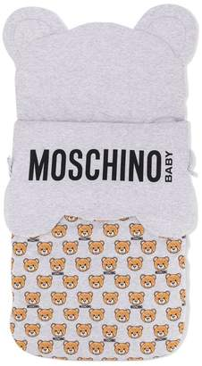 Moschino Kids logo bear print sleeping bag