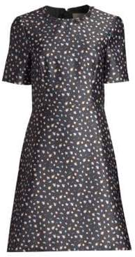 Jason Wu Floral Short-Sleeve Mini Dress