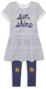Petit Lem Baby Girl's Sunshine Stripe Dress & Legging Set