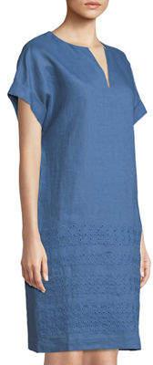 Lafayette 148 New York Fabian Eyelet Embroidered Tunic Dress