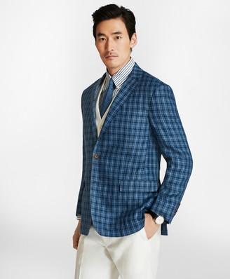 Brooks Brothers Regent Fit Multi-Windowpane Linen Sport Coat