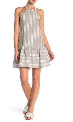 BCBGeneration High Neck Stripe Print Dress