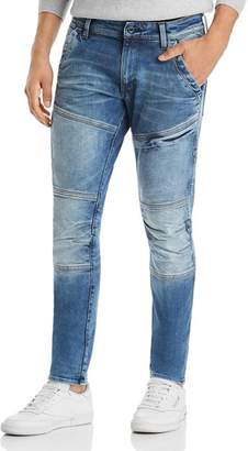 G Star Rackam 3D Skinny Fit Jeans in Faded Medium Aged