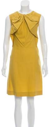 Marni Sleeveless Knee- Length Dress Yellow Sleeveless Knee- Length Dress