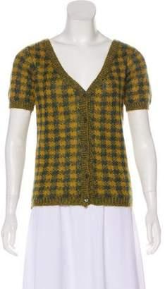 Prada Mohair Short Sleeve Cardigan