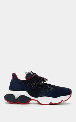 Christian Louboutin Women's Red Runner Flat Sneakers - Dk. Blue