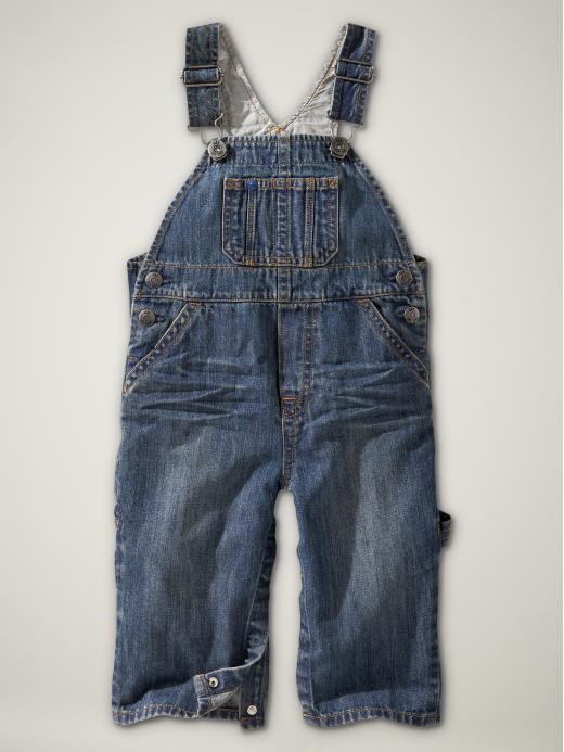 The denim overalls