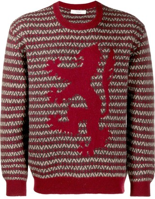 Pringle Herringbone Lion Sweater