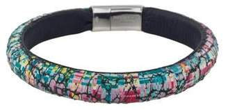 Tateossian Leather Graffiti Cobra Colorama Bangle Bracelet