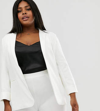 Outrageous Fortune Plus tailored blazer in white