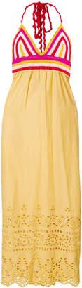 Semi-Couture Semicouture crocheted halterneck dress