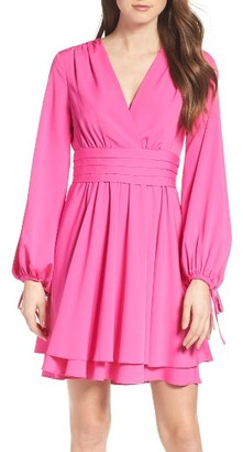 Women's Eliza J Tie Sleeve Fit & Flare Dress $148 thestylecure.com