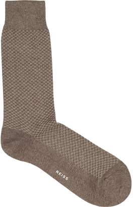 Reiss PRICE TEXTURED SOCKS Mushroom