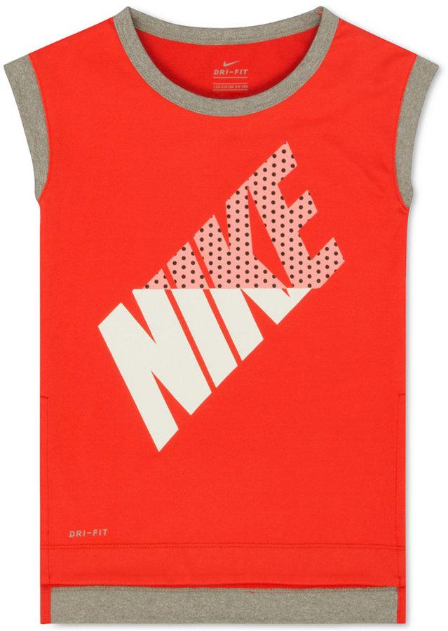 Nike Dri-FIT Sleeveless T-Shirt, Toddler & Little Girls (2T-6X)