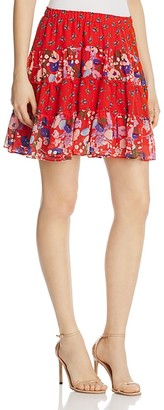 Beltaine Mixed-Print Shirred Skirt $128 thestylecure.com