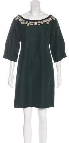 Lela Rose Embellished Shift Dress