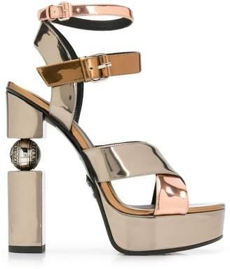 Balmain block heel sandals