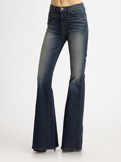 J Brand Kiki High-Rise Flare Jeans