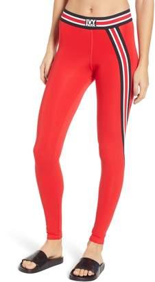 Ivy Park R) Asymmetrical Stripe Leggings