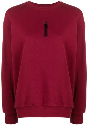 Stella McCartney tasselled embroidered star sweatshirt