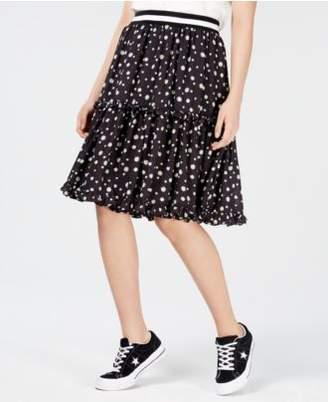 Macy's NICOPANDA Tiered Floral-Print Skirt, Created for