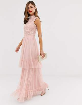Frock and Frill tulle layered maxi dress with embellished detail