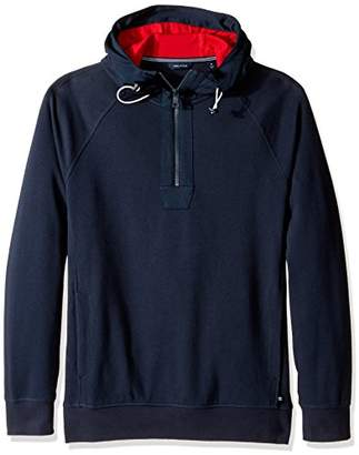 Nautica Men's Long Sleeve Zip Pullover Hoodie Sweatshirt