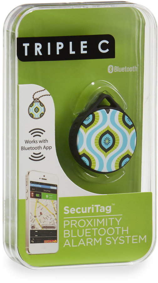 Triple C Designs SecuriTag Proximity Bluetooth Alarm System, Kiwi