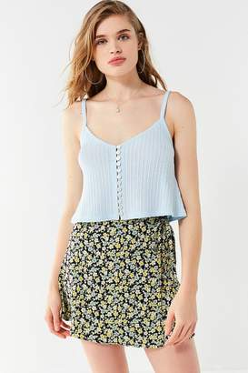 Urban Outfitters Paloma Button-Down Cropped Tank Top