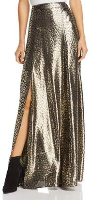 Alice + Olivia Athena Metallic Cheetah Maxi Skirt