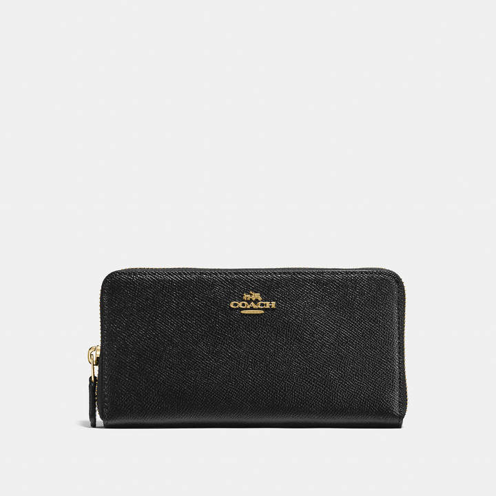 Coach   COACH Coach Accordion Zip Wallet In Crossgrain Leather
