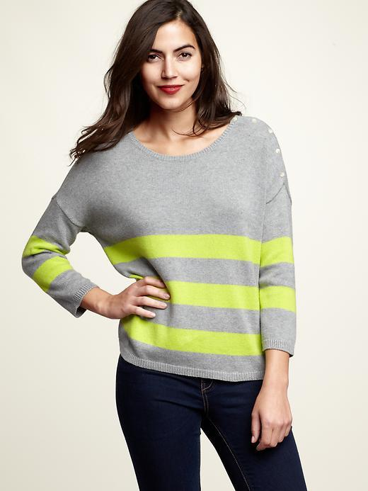 Three-stripe sweater