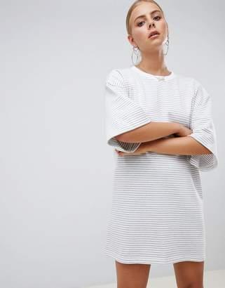 Missguided Stripe T-Shirt Dress