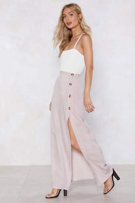 Nasty Gal Button Maxi Skirt