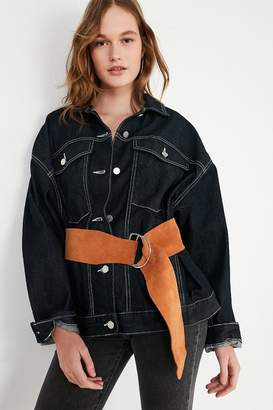 Urban Outfitters Wide Suede D-Ring Belt