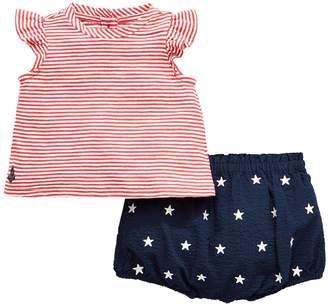 Ralph Lauren Girls Stripe T-shirt & Short Outfit