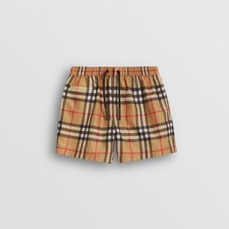 Burberry Childrens Check Swim Shorts