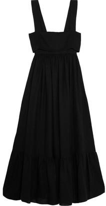Chloé - Tie-back Linen Maxi Dress - Black
