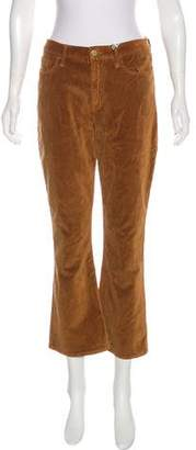 Frame Velvet Mid-Rise Wide-Leg Pants