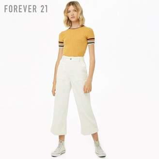 Forever 21 (フォーエバー 21) - Forever 21 コーデュロイハイウエストワイドパンツ