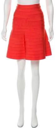 Herve Leger Bandage A-Line Skirt