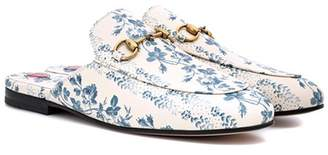 Princetown printed leather slippers
