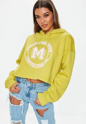Missguided Malibu Cropped Hoodie