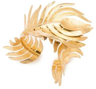 Josie Natori Gold Plated Brass Peacock Cuff
